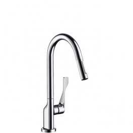 Axor Citterio Single lever kitchen mixer with pullout spray