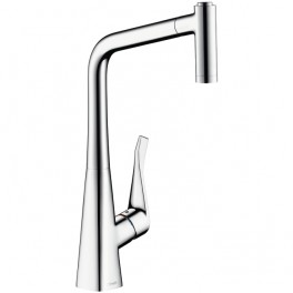 Metris Single lever kitchen mixer with pull-out spray