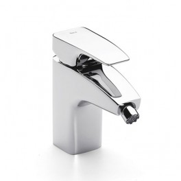 Roca Thesis Bidet mixer with retractable chain or pop-up waste