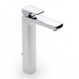 Roca L90 High-neck basin mixer with pop-up waste