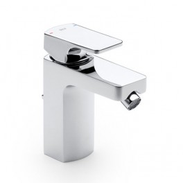 Roca L90 Bidet mixer with pop-up waste