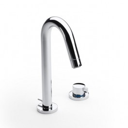 Roca Singles High-neck basin mixer, progressive technology, with pop-up waste