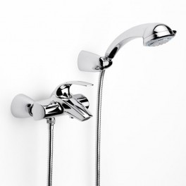 Roca M2 Wall-mounted bath mixer with automatic diverter