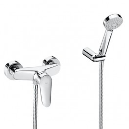 Roca Logica Wall-mounted bath-shower mixer with automatic diverter
