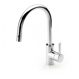 Roca Targa Kitchen sink mixer with retractable swivel spout and rinse spray function