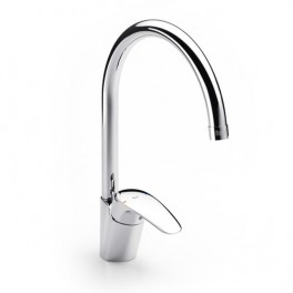 Roca Monodin Wall-mounted kitchen sink mixer with swivel spout