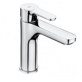 Roca L20 Smooth body medium-neck basin mixer