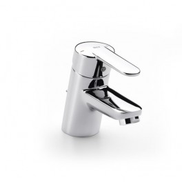 Roca Victoria Basin mixer with pop-up waste or with chain connector