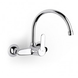 Roca Victoria Wall-mounted kitchen sink mixer with swivel spout