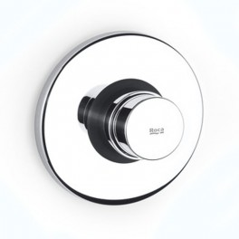 Roca Sprint Self-closing built-in shut-off cock for shower with round wall-plate
