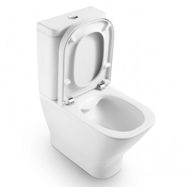Roca The Gap Compact back to wall vitreous china Clean Rim close-coupled WC with dual outlet
