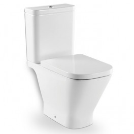 Roca The Gap Vitreous china close-coupled WC with horizontal outlet