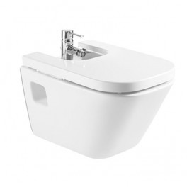 Roca The Gap Vitreous china wall-hung bidet