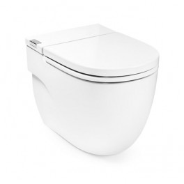 Roca Meridian IN-TANK - Floor standing toilet with integrated tank within the unit. Includes seat and cover. Needs power supply.