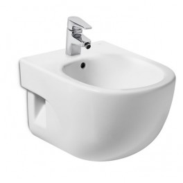 Roca Meridian Compact vitreous china wall-hung bidet