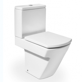 Roca Hall Vitreous china close-coupled WC with dual outlet 365x595x765 mm