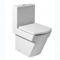 Rock Hall Pack Compact back to wall vitreous china close-coupled WC with dual outlet 365x595x765 mm