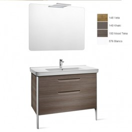 Roca Dama 850 Pack (base unit, basin, mirror and spotlight)