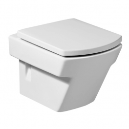 Roca Hall Compact vitreous china wall-hung WC with horizontal outlet