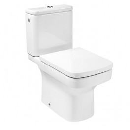Roca Dama N Vitreous china close-coupled WC with horizontal outlet