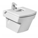 Roca Hall Compact vitreous china wall-hung bidet 355x515x320