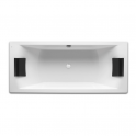 Roca Hall two seater rectangular bath with whirlpool and drain 1800x800x420