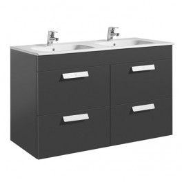 Roca Debba Unik 1200x460 (base unit with four drawers and double bowl basin)