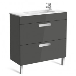 Roca Debba Unik 800x360 (compact base unit with two drawers and basin)