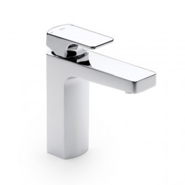 Roca L90 Smooth body basin mixer with click-clack pop-up waste