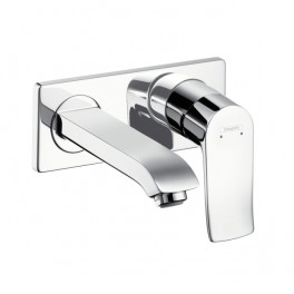 Metris Single lever basin mixer for concealed installation with short spout 165mm or 225mm