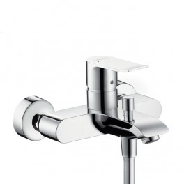 Metris Single lever bath and shower mixer for exposed installation