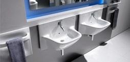 Wall-hung basins and Basin mural design for the bathroom sink Buy mural for the bathroom, sink and wall mural Roca basin, duravit, gala ... and more