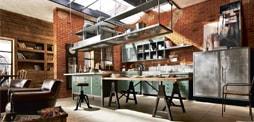 Cocina loft-industrial