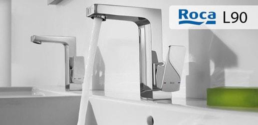 Roca L90 Ángulos, rectas y planos se suceden en una propuesta de estilo singular, especialmente recomendada para los amantes del diseño inspirado en la vida urbana