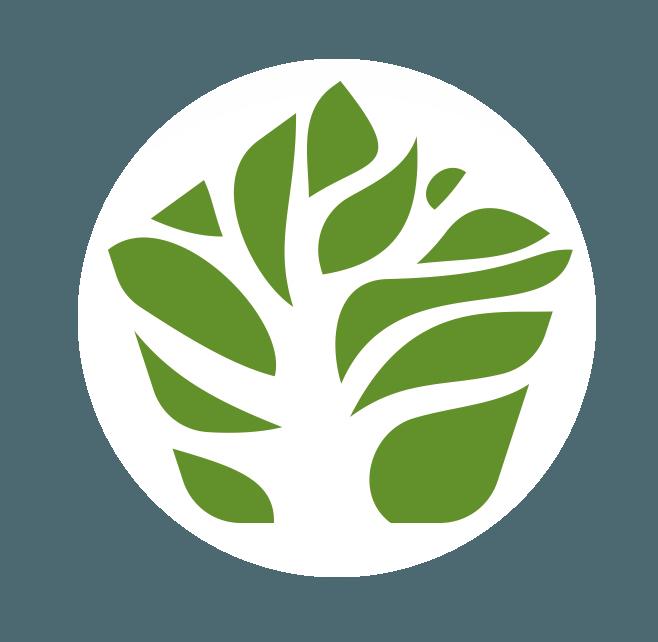 Logo arbol blanco
