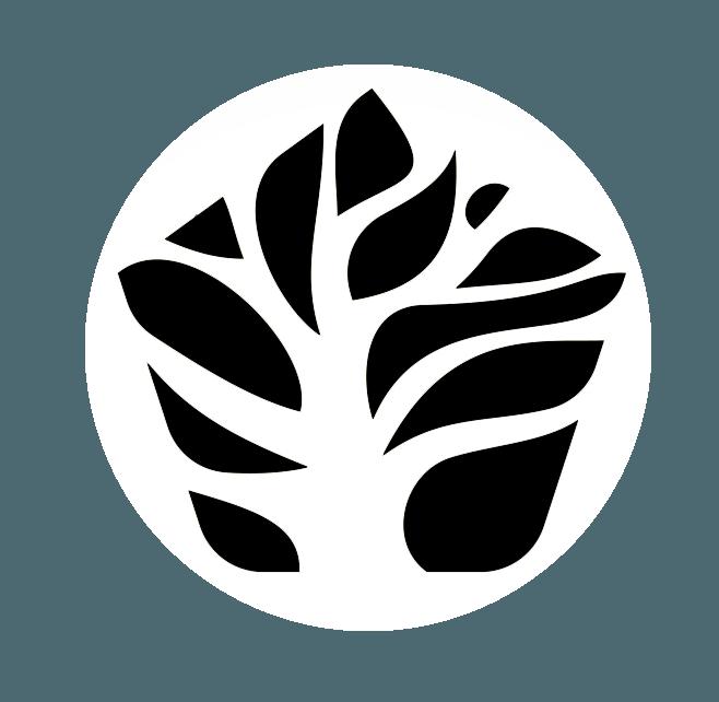 Logo arbol negro